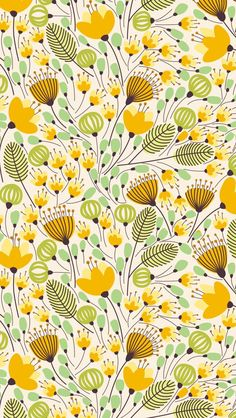 Elegant banner with orange flowers vector illustration Yellow and green flower pattern. The post Elegant banner with orange flowers vector illustration appeared first on Easy flowers. Flower Pattern Drawing, Flower Pattern Design, Flower Patterns, Flower Illustration Pattern, Flower Design Drawing, Pattern Design Drawing, Pattern Illustrations, Boho Pattern, Yellow Pattern