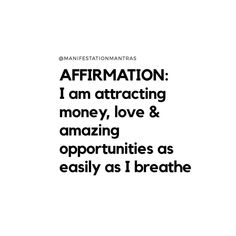 Do you want to manifest more money, love & success? Learn this secret law of attraction technique & reprogram your brain to manifest Unlimited Wealth, Love & Success. Morning Affirmations, Positive Affirmations, Inspirational Words Of Wisdom, Law Of Attraction Affirmations, Affirmation Quotes, Note To Self, Amazing Quotes, Daily Quotes, The Book