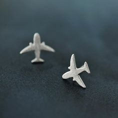 925 sterling silver plane stud earring jewelry luxury women party airplane gift spring engagement cute lady aircraft earring