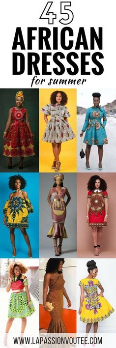 45 Fashionable African Dresses Discover the hottest ankara African dresses you need this season. Everything from peplum, bubble sleeves, and flare to mixed African print. This season's hottest styles & where to get them are in one convenient post. African Print Dresses, African Dresses For Women, African Wear, African Attire, African Fashion Dresses, African Women, African Clothes, African Prints, African Lace