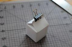 Make Tiny Milk Carton Favor Boxes! « DIY Maven