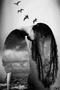 'y libertad' by Loui Jover Double Exposure Photography, Art Photography, Gothic Photography, Levitation Photography, Surrealism Photography, Underwater Photography, Deviant Art, Canvas Artwork, Canvas Art Prints