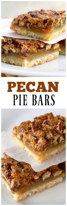 Pecan Pie Bars - just like the pie but in easy to eat bar form! the-girl-who-ate-everything.com