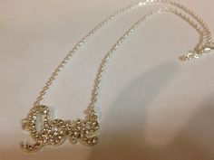 Love pendant necklace by MyFavoriteAccessory on Etsy, $15.00