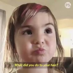 🤣 Sooner or later, kids and scissors find a perfect match 😂 Share your story. Tag a friend! Girls Cuts, Best Leggings, Perfect Match, Her Hair, Little Girls, Haha, Hair Makeup, Funny Pictures, Jokes