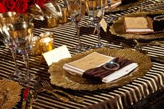 burlap and gold napkins - Google Search