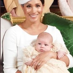 The Duchess Of Sussex is so cute dressed in white for prince Archie's babtisum