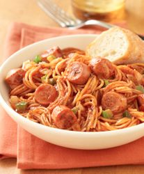 Fideo with Vienna Sausage... A savory pasta dish the whole family will love. 6 ingredients and 25 minutes total time, this recipe is a fun and tasty weeknight meal. If you don't have fideo macaroni, try angel hair pasta!