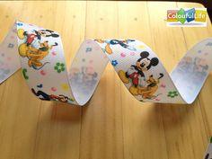 5 yards 1 inch 1'' 25mm grosgrain ribbon Disney by ColourfulLife