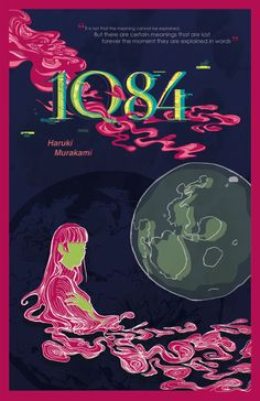 1Q84  Haruki Murakami Book Poster / Literature by ParadoxParade