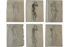 Studies of Male Statue, Set of Six on OneKingsLane.com