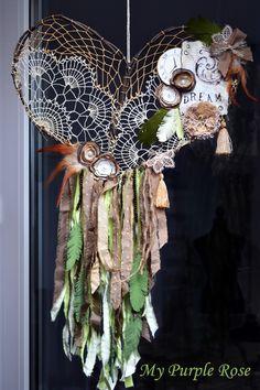Traumfänger & Mobiles - Traumfänger SeptemberWald - ein Designerstück von My-Purple-Rose bei DaWanda