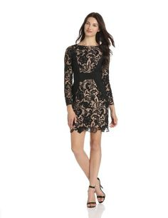 Jessica Simpson Women's Fitted Lace Dress With « MyStoreHome.com – Stay At Home and Shop