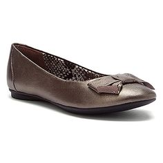 Women's Clarks Poem Court Pewter Leather - Click Image to Close