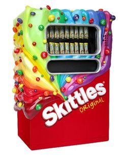 I found 'Skittles candy machine' on Wish, check it out!