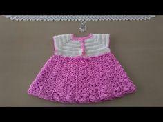Vestido para bebé: Como hacer vestido para niña en crochet - YouTube