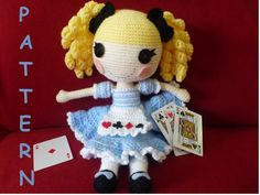 Alice+in+LalaLoopsy+Land+type+doll+PATTERN+by+AdoraBellePlushies,+$5,95
