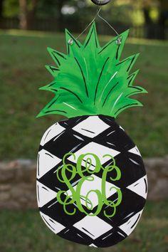 Pineapple Door hanger by forpetessakepottery on Etsy, $35.00