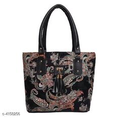 Checkout this latest Handbags Set Product Name: *Beautiful Women's Black Faux Leather/Leatherette Handbag* Material: Faux Leather/Leatherette Water Resistant: No Compartment Closure: Zip No. Of Main Compartments: 2 Sling Type: Non Detachable Sling Strap Print Or Pattern Type: Printed Multipack: 1 Country of Origin: India Easy Returns Available In Case Of Any Issue   Catalog Rating: ★4 (5458)  Catalog Name: Elegant Fancy Women'S Pu Leather Hand Bags CatalogID_592763 C73-SC1073 Code: 482-4158256-105