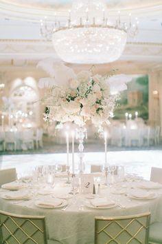 Seriously glamorous #ballroom decor   New York City Essex House Wedding from Maggie Harkov  Read more - http://www.stylemepretty.com/new-york-weddings/2013/08/20/new-york-city-essex-house-wedding-from-maggie-harkov/