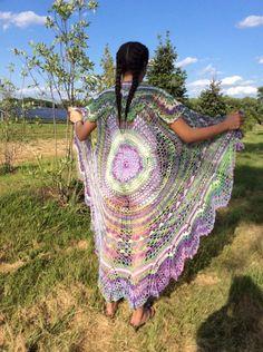 Bohemian vest - pattern from Craftsy- Done in Diva Batik yarn from Yarnstreet.
