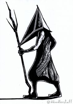 Ddoodler Stuff Silent Hill Art, Pyramid Head, Horror Icons, Horror Movies, Confused, Illustration Art, Paintings, Games, Halloween