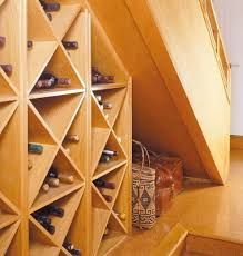 Wine racks under stairs