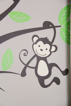 Monkey Wall Decal for #babynursery