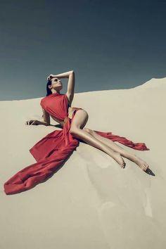 Lemanska - designer Michał Grzyb - photo  fashion , red dress , photography , inspiration