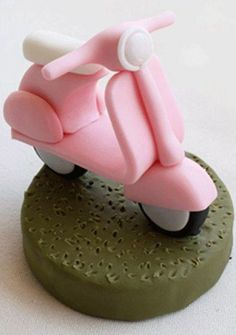 tutorial di cake design vespa