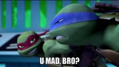 The fact that Raph actually says that to Leo in the show makes this so much funnier!