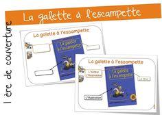 Première de couverture : la galette à l'escampette | Bout de Gomme School, Book Covers, Beginning Sounds, Reading