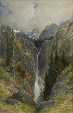 Gustave Doré - Cascade du trou de l'Enfer dans la vallée du Lys (Luchon) 1882