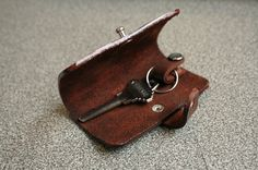 Leather Key Case Car Key Cover Car Key Holder by SimpleFraction