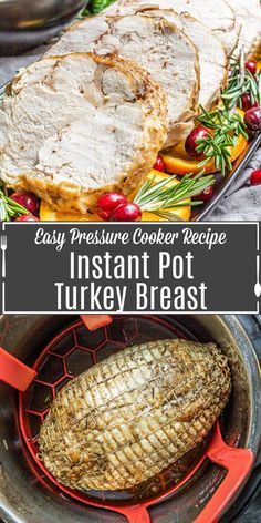 Instant Pot turkey breast is a quick and easy way to feed a small gathering for the holidays we've even got easy instructions for gravy so you can make a complete turkey dinner for Thanksgiving dinner or Christmas dinner. Use a bone-in or boneless turkey breast and cook it perfectly in your pressure cooker. #thanksgiving #christmas #turkey #instantpot #instantpotrecipe Easy Pressure Cooker Recipes, Pressure Cooker Turkey, Multi Cooker Recipes, Instant Pot Pressure Cooker, Slow Cooker, Thanksgiving Side Dishes, Thanksgiving Recipes, Thanksgiving 2020, Christmas Recipes