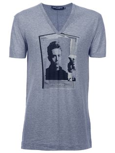 New season dolce & Gabbana @giuliofashion #farfetch James dean v-neck t-shirt legend
