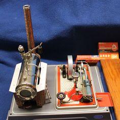 Vintage 1950's Wilesco Working Steam Engine with Original Tool Workshop