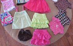 from baby clothes to American Girl 18 inch doll clothes ....so easy!!