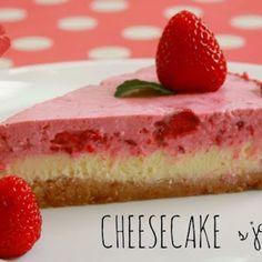 Cheesecake {pečeně nepečený} s jahodami | DOBROTY DULINKA