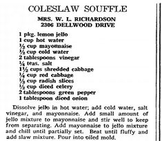 "Recipe published in the Greensboro Daily News newspaper (Greensboro, North Carolina), 24 October 1971. Read more on the GenealogyBank blog: ""Scary Old Recipes from Your Family's Past."" http://blog.genealogybank.com/scary-old-recipes-from-your-familys-past.html"