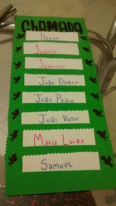 """""""Chamadinha"""" feita para os meus alunos do jardim 1"""