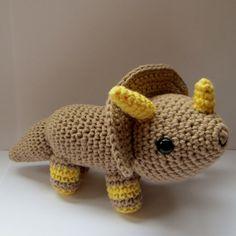 Amigurumi Triceratops  PDF crochet pattern by anapaulaoli on Etsy