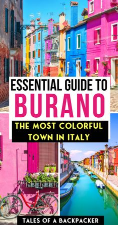 italy travel The Essential Guide to Burano Italy - Everything you need to know about a Burano day trip, including how to get to Burano from Venice, things to do in Burano and options for a Burano tour. Venice Things To Do, Day Trips From Venice, Things To Do In Italy, Italy Destinations, Honeymoon Destinations, Amalfi Coast, Travel Photographie, Italy Travel Tips, Greece Travel