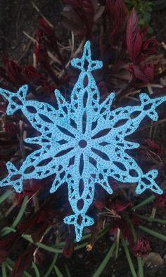 intermediate crochet snowflake