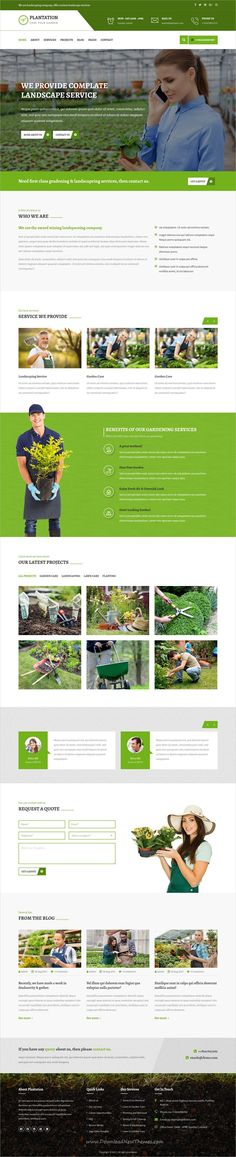 Plantation is clean and modern design 3in1 responsive #HTML5 template for gardening, #landscaping and lawn services website download now..