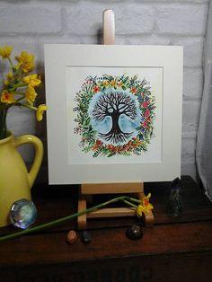 Tree of life paintingpagan artwiccatree picturethe seasons