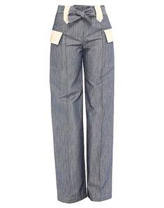 Die beste Online-Auswahl an Hosen DROMe - Exklusive Artikel italienischer und internationaler Designer auf YOOX - Sichere Zahlungen - Kostenlose Rückgaben. Grey Fashion, Casual Pants, Designer, Pants For Women, Legs, Denim, Wide Leg, Weave, Blue