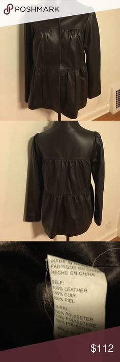 Karen Kane leather jacket This has been a fun jacket to wear. It is in great condition Karen Kane Jackets & Coats