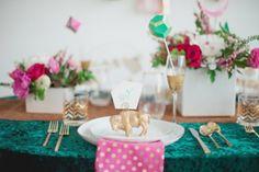 Unusual Emerald And Pink Wedding Inspiration