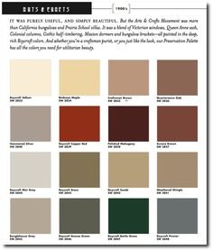 craftsman colors | ... Crafts Historic Paint Colors Exterior 500x590 Arts and Crafts Painted